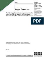 BS 88-2.1 1988 - Low-Voltage Fuses