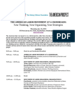 The American Labor Movement at a Crossroads - Labor_conference_agenda_final_copy_0