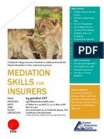 Mediation Skills for Insurers