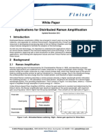 Applications for Distributed Raman Amplification