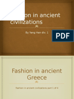 fashion in ancient civilization
