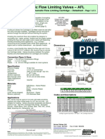 Automatic Flow Limiting Valve Data Sheet