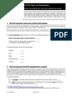 Fleet List Form En