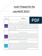 How Should I Prepare for the New MCAT