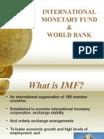 World Bank and IMF 1