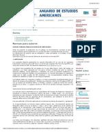 Anuario Estudios Americanos. Normas de publicación