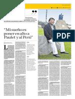 Mi sueño es poner en alto a Paulet y al Perú
