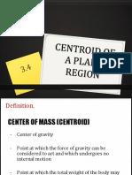 3.4 Centroid of Rod, Plane Region,
