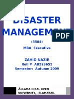 29962975 Semester III Assgn I Disaster Management