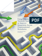 Using Organizational Network Analysis to Improve Integration Across Organizational Boundaries