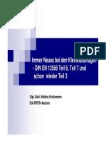 Immer Neues Bei Den Kleinkläranlagen - DIN en 12566