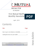 First Mutual Health Newsletter - April Edition
