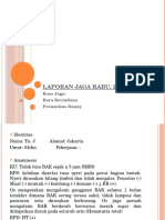 Laporan Jaga Rabu, 20 Juli 2016