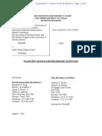 UHLC v. South Texas - Motion for PI