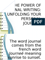 The Power of Journal Writing