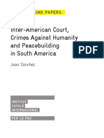 Inter-American Court, Crimes Against Humanity and Peacebuilding in South America
