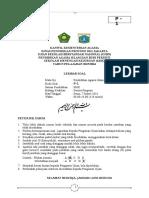 (3) Soal Tertulis USBN PAI SMK (Paket 1) Final-2016