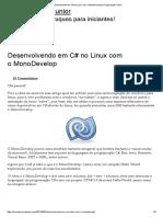Desenvolvendo Em C# No Linux Com o MonoDevelop _ Programação Junior