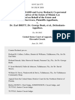 Connie C. Reshard and Leroy Reshard, Co-Personal Representatives of the Estate of Minnie Lee Reshard on Behalf of the Estate and Certain Survivors v. Dr. Earl Britt, Dr. George Bonk, 819 F.2d 1573, 11th Cir. (1987)