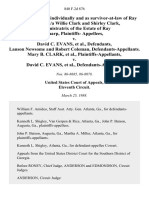 Mary B. Clark, Individually and as Survivor-At-Law of Ray Sharp, A/K/A Willie Clark and Shirley Clark, Administratrix of the Estate of Ray Sharp, Plaintiffs v. David C. Evans, Lanson Newsome and Robert Coleman, Mary B. Clark v. David C. Evans, 840 F.2d 876, 11th Cir. (1988)