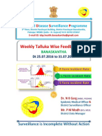 Week 30 Feedback Incident Rate 2016 Idsp Banaskantha
