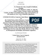 Frank Padavan, Charles D. Cook, Joseph R. Holland, Serphin R. Maltese, John J. Marchi, Michael J. Tully, Jr., Dale M. Volker and Rensselaer County, Nassau County and Suffolk County, on Their Own Behalf and as Class Representatives of All Counties in New York v. United States of America, Janet Reno, Attorney General of the United States, Doris Meissner, Commissioner of the Immigration and Naturalization Service, Carol Chasse, Director of the Ins Eastern Regional Office, John J. Ingham, Director of the Ins Buffalo District, Edward J. McElroy Acting Director of the Ins New York District, Donna E. Shalala, Secretary of the United States Department of Health and Human Services and Alice Rivlin, Director of the Office of Management and Budget, 82 F.3d 23, 2d Cir. (1996)