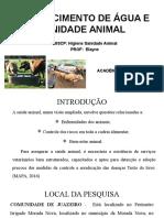 Abastecimento de Água e Sanidade Animal - Slide