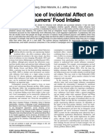 The Influence of Incidental Affect on Consumers Food Intake