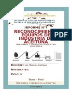 RECONOCIMIENTO EQUIPOS DE INDUSTRIA DE ACEITUNA