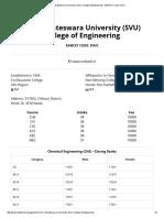 Sri Venkateswara University (SVU) College of Engineering - EAMCET Code_ SVUC