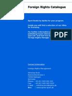 Spitta Verlag Rights-Catalogue Sport-2014
