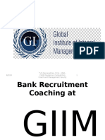 GIIMS-Bank Recruitment Coaching Launch-January 13,2016