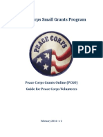 Peace Corps Grants Online (PCGO) Guide for Peace Corps Volunteers February 2014 – v 2