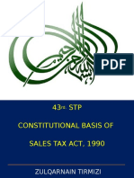 Constitutional Basis of Sales Tax