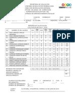 formato d calificaciones