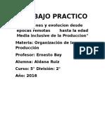 Origenes y Evolucion organizacion de la produccion
