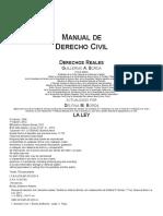Manual de Derechos Reales BORDA