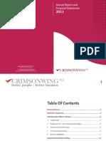 Crimsonwing PLC Annual Report 2011