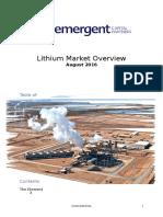 ecp lithium market report 2016