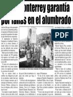 03-08-16 Cobra Monterrey garantía por fallas en el alumbrado
