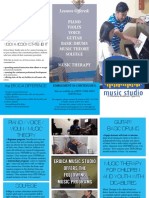 Eroica Music Studio brochure