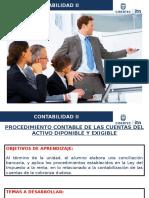 S6 - Curso Contabilidad II 2016 I - Activo Disponible y exigible.pptx