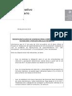 Informativos Tributario - Modifican Plazos de Vigencia Para Cdr y p Electrónicos