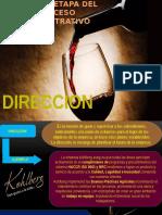 Direccion tercera etapa del proceso administrativo