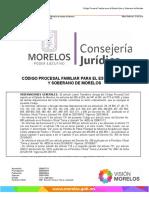 Código Procesal Familiar Para El Estado de Morelos