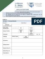 Application Form - F2F India 2017 B