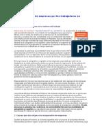 La Recuperación de Empresas Por Los Trabajadores en Argentina