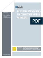 FILTER RECOMMENDATIONS FOR COEXISTENCE WITH LTE AND WIMAX