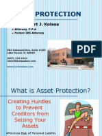Asset Protection Class Outline