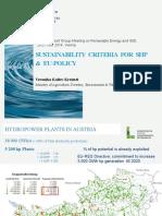 Veronika Koller-Kreimel - Sustainability Criteria for SHP EU-Policy EGM RE